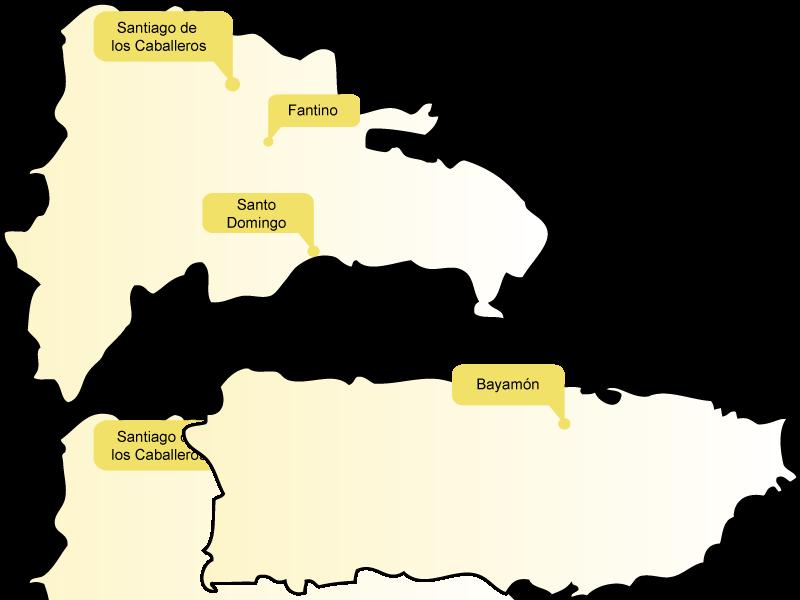 Rep. Dominicana y Puerto Rico